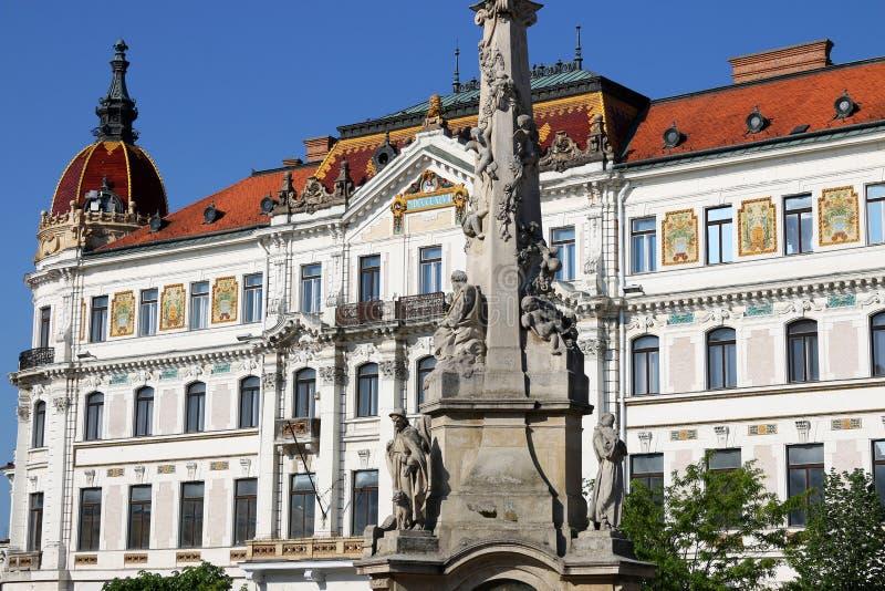 Le monument de place de Szechenyi et Pecs de construction image libre de droits