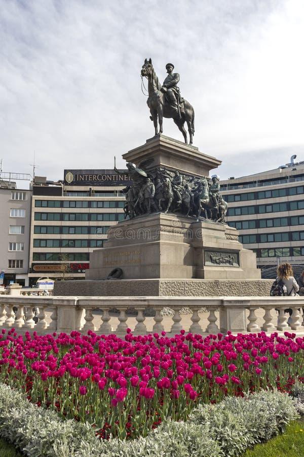 Le monument du libérateur Alexandre de tsar II de la Russie dans la ville de Sofia, Bulgarie image stock