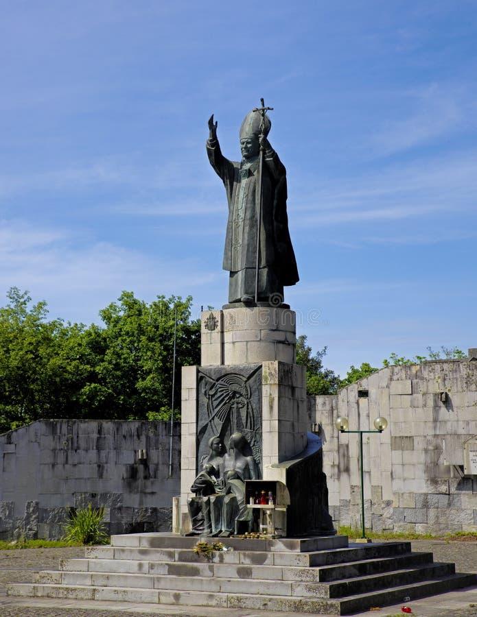 Le monument du Pape Jean Paul II image stock
