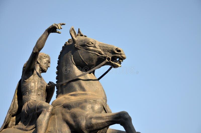 Le monument du Roi Filip II dans Bitola, Macédoine photo libre de droits