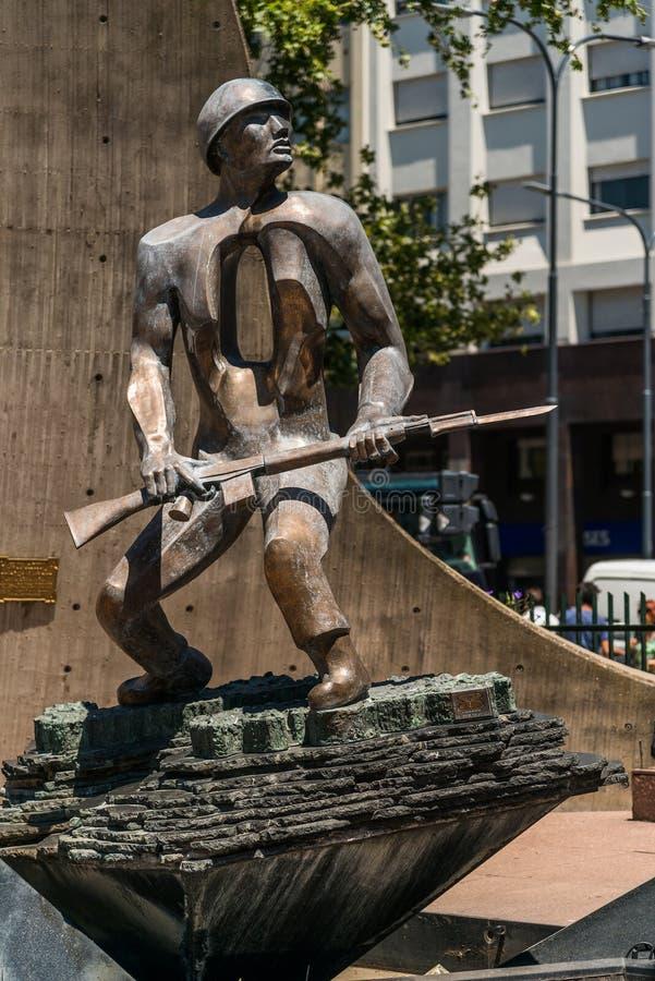 Le monument du soldat à Buenos Aires photo libre de droits