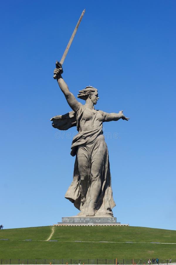 Le monument les appels de la mère patrie ! image libre de droits