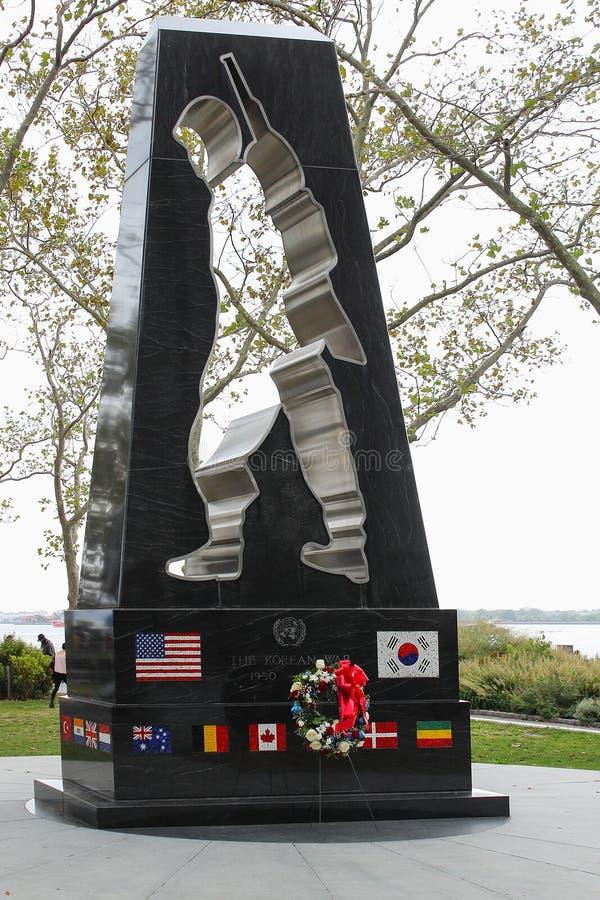 Le monument universel de soldat, un mémorial à ceux qui ont combattu dans la Guerre de Corée photo stock