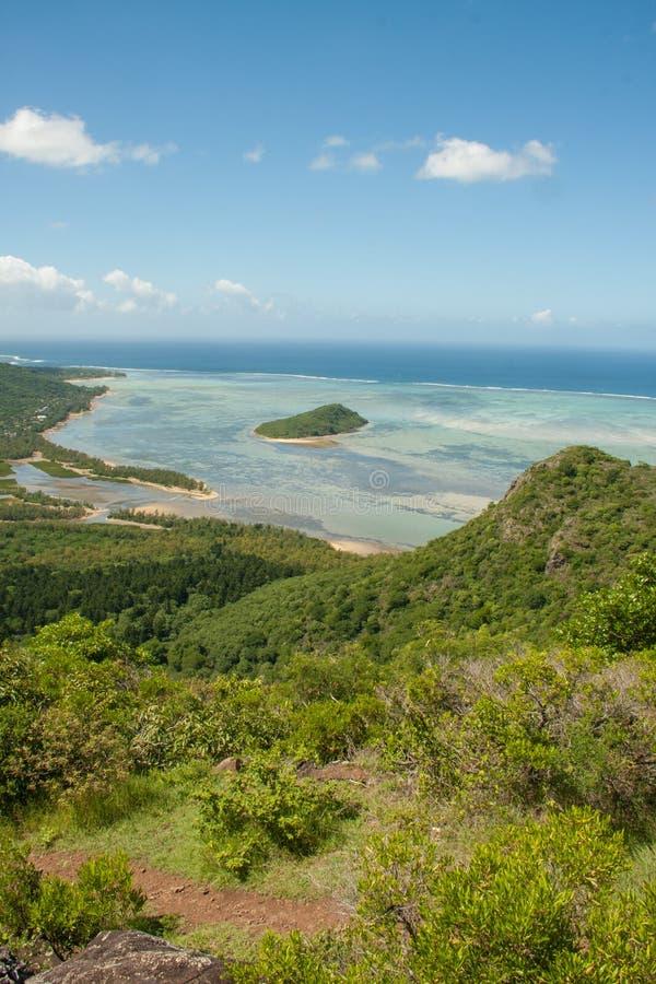 从Le Morne,毛里求斯的看法 库存图片