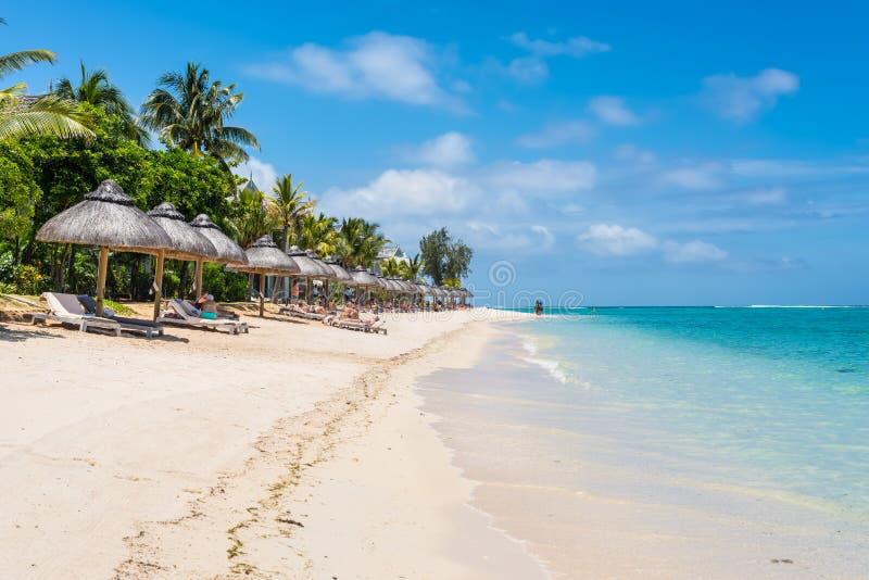 Le Morne Beach,毛里求斯 免版税库存图片