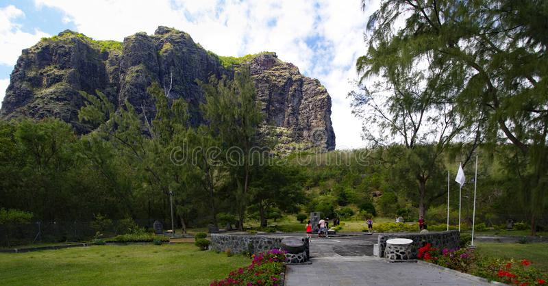LE MORNE/MAURITIUS - 23. AUGUST 2018: Sklaven-Route Monument-Museum hergestellt im Süden von Mauritius-Insel lizenzfreie stockfotografie