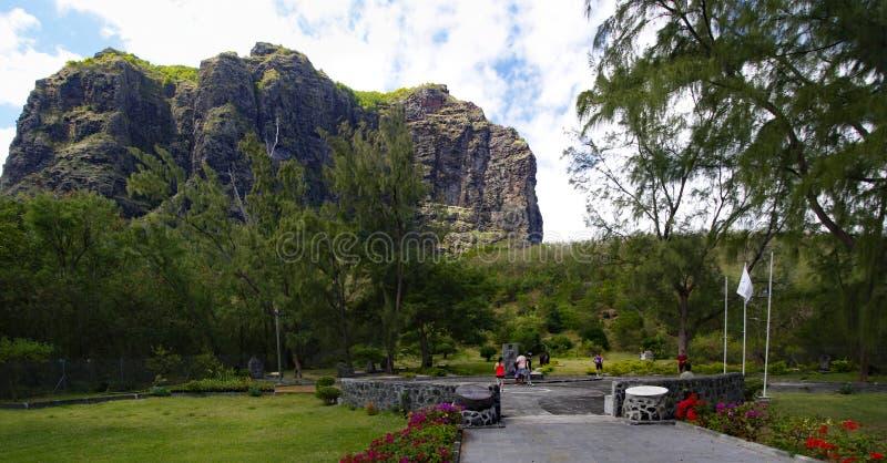 LE MORNE/MAURITIUS - 23 AUGUSTUS, 2018: Het museum van slavenroute monument in zuiden van het eiland dat van Mauritius wordt geve royalty-vrije stock fotografie