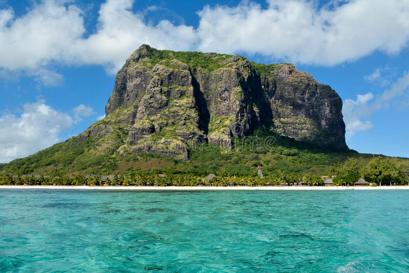 Le Morne mountain, Mauritius island royalty free stock images