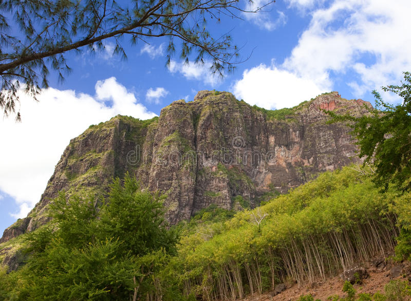 Le Morne mountain on the south of Mauritius. Le Morne mountain on south of Mauritius royalty free stock photography
