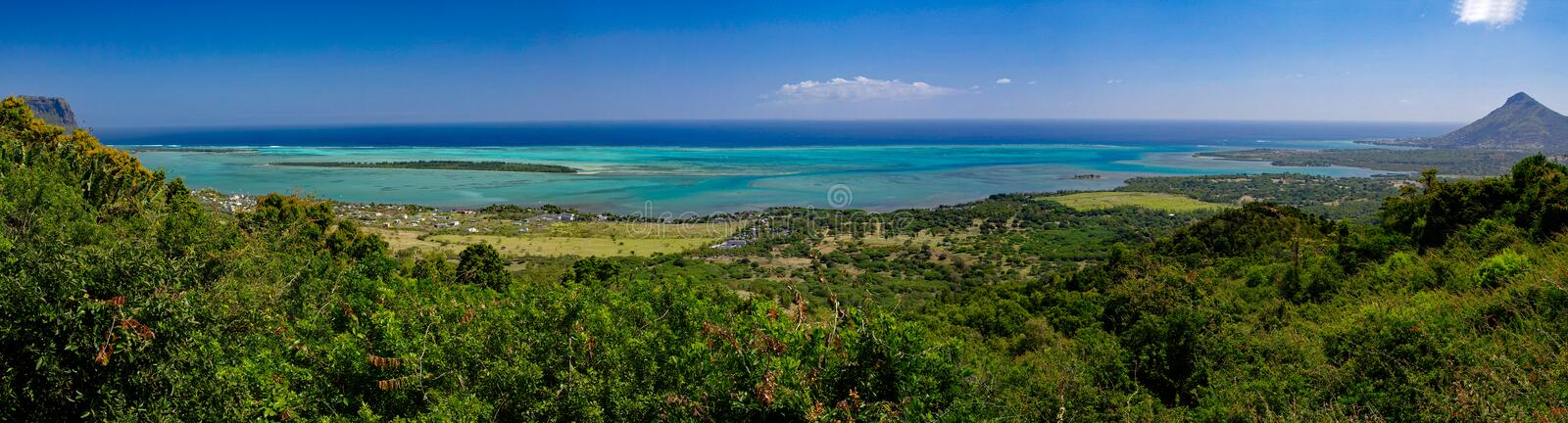 Le morne Tamarin Viewpoint located in the Black River Gorges National Park, Mauritius stock photo
