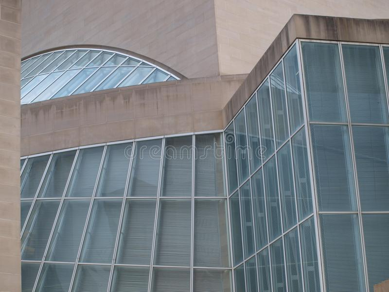 Le Morton H Conception de centre de Meyerson Sumphony de verre photographie stock