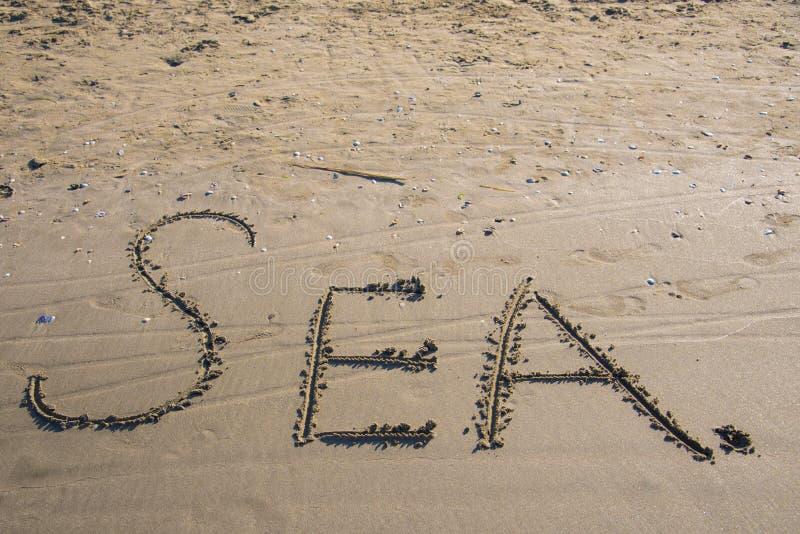 """Le mot """"mer """" images libres de droits"""