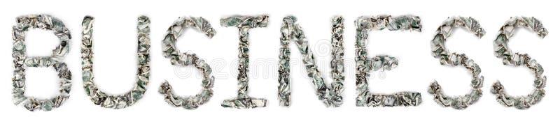 Affaires - Factures 100$ Serties Par Replis Photo libre de droits