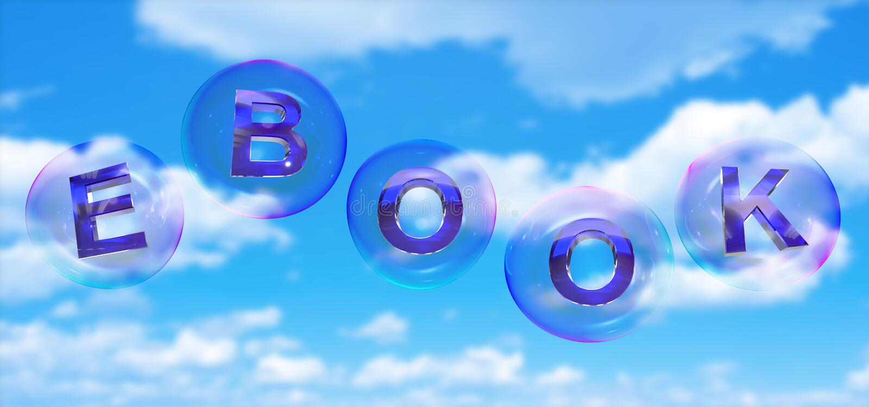 Le mot d'eBook dans la bulle illustration stock