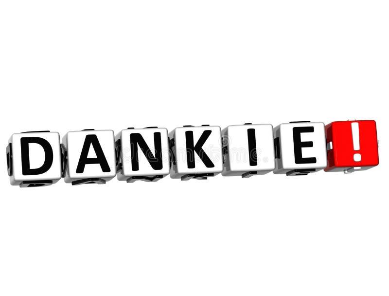 Le mot Dankie - merci dans beaucoup de différentes langues illustration libre de droits