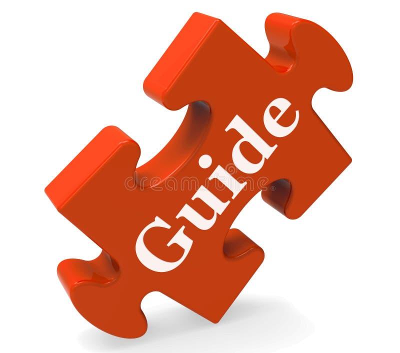 Le mot de guide signifie des conseils ou la formation illustration de vecteur