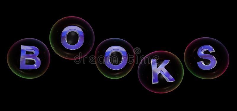 Le mot de livres dans la bulle illustration stock