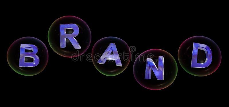Le mot de marque dans la bulle illustration de vecteur