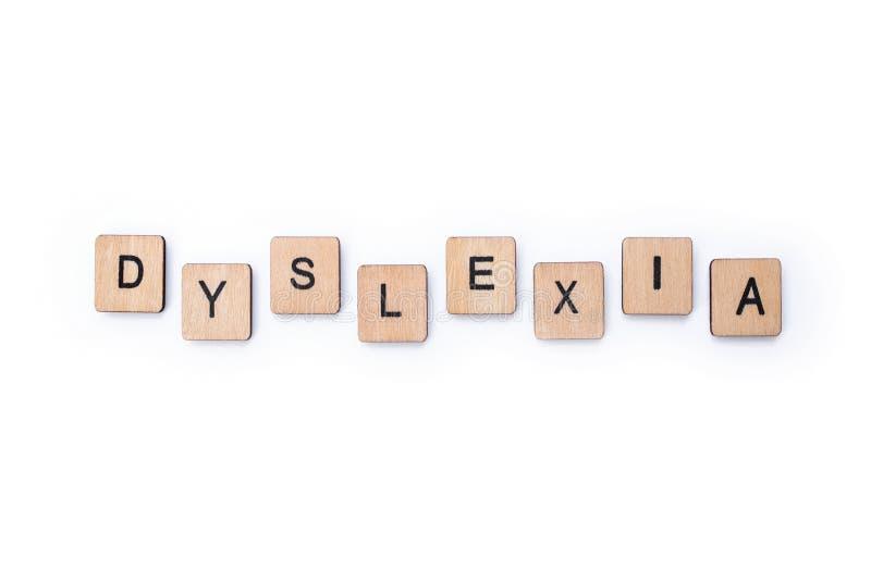 Le mot DYSLEXIE photo libre de droits
