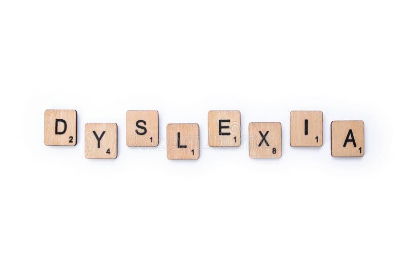 Le mot DYSLEXIE photo stock