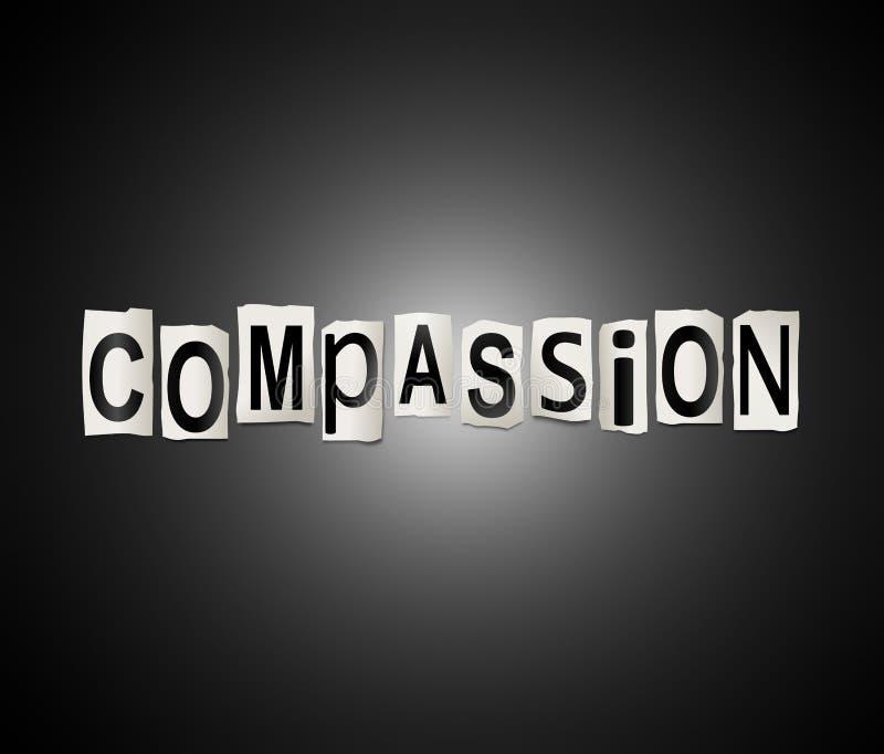 Le mot est compassion illustration de vecteur