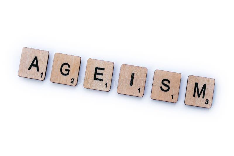 Le mot ÂGISME photos libres de droits