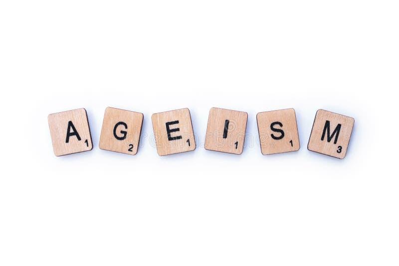 Le mot ÂGISME images stock