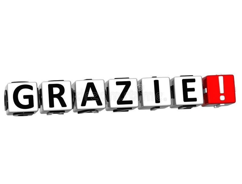 Le mot Grazie - merci dans beaucoup de différentes langues illustration libre de droits