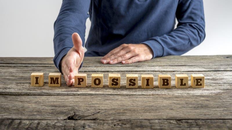 Le mot impossible - possible image libre de droits