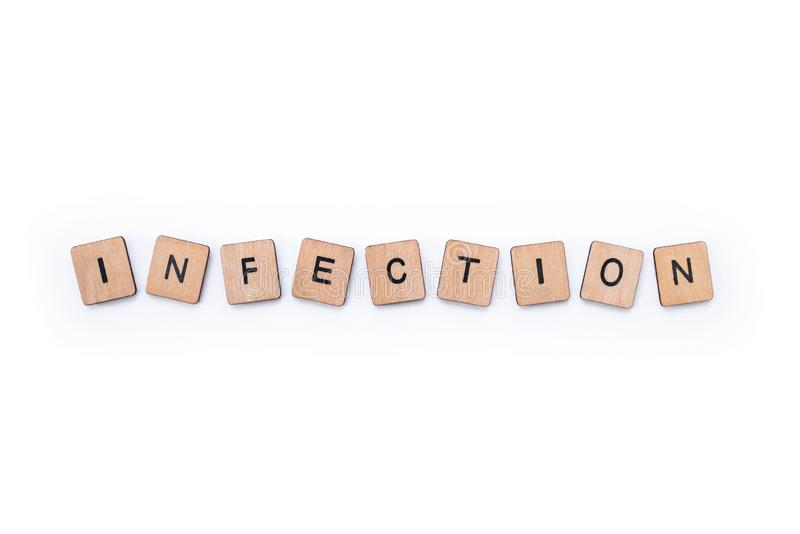 Le mot INFECTION images stock