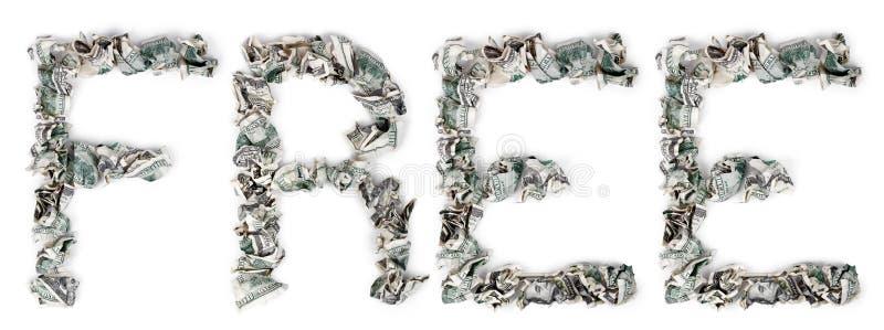Libérez - Les Factures 100$ Serties Par Replis Photographie stock libre de droits