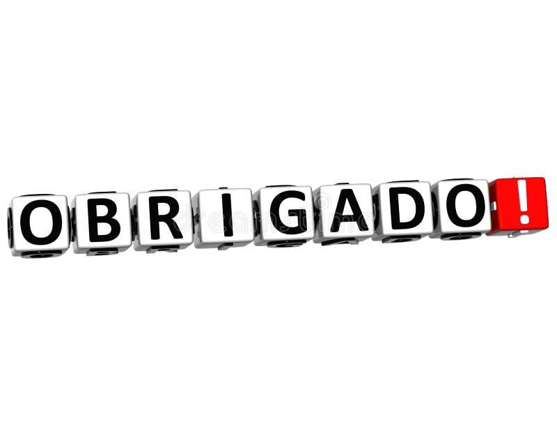 Le mot Obrigado - merci dans beaucoup de différentes langues illustration de vecteur
