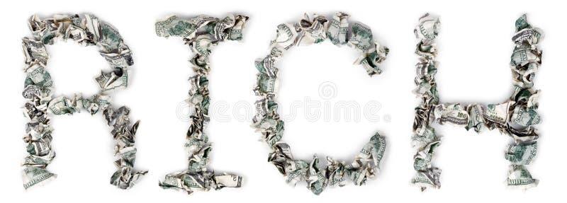 Riche - Factures 100$ Serties Par Replis Photo libre de droits