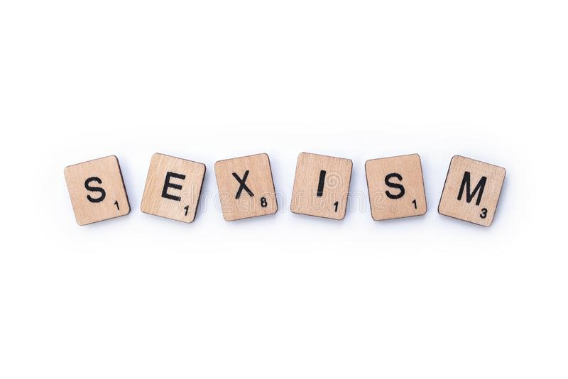 Le mot SEXISME photographie stock libre de droits