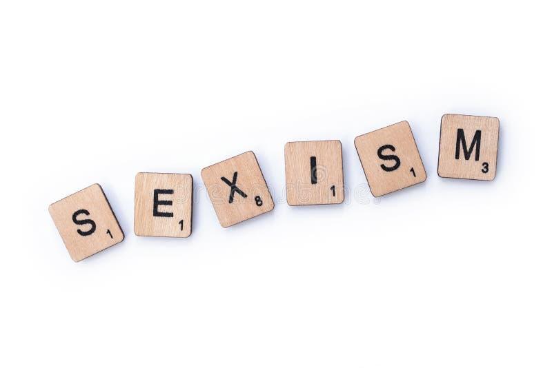 Le mot SEXISME photos libres de droits