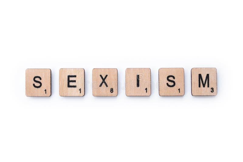 Le mot SEXISME images libres de droits