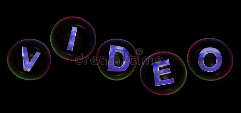 Le mot visuel dans la bulle illustration de vecteur