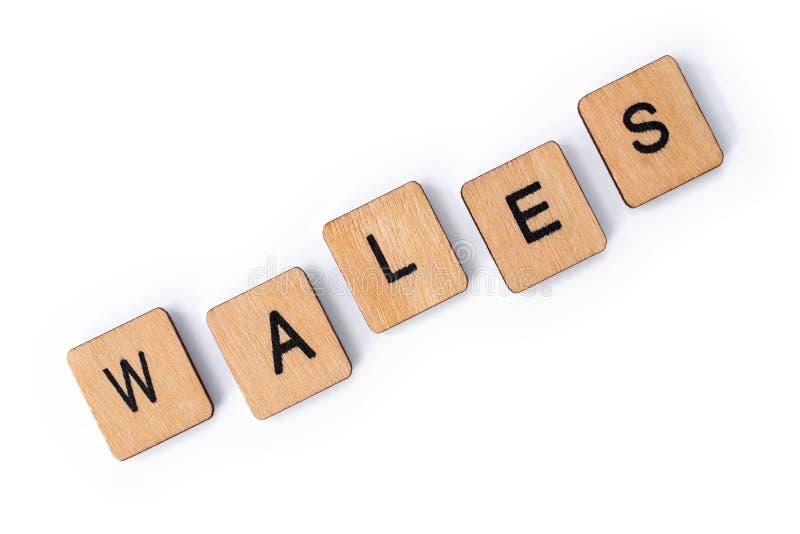 Le mot WALES image stock