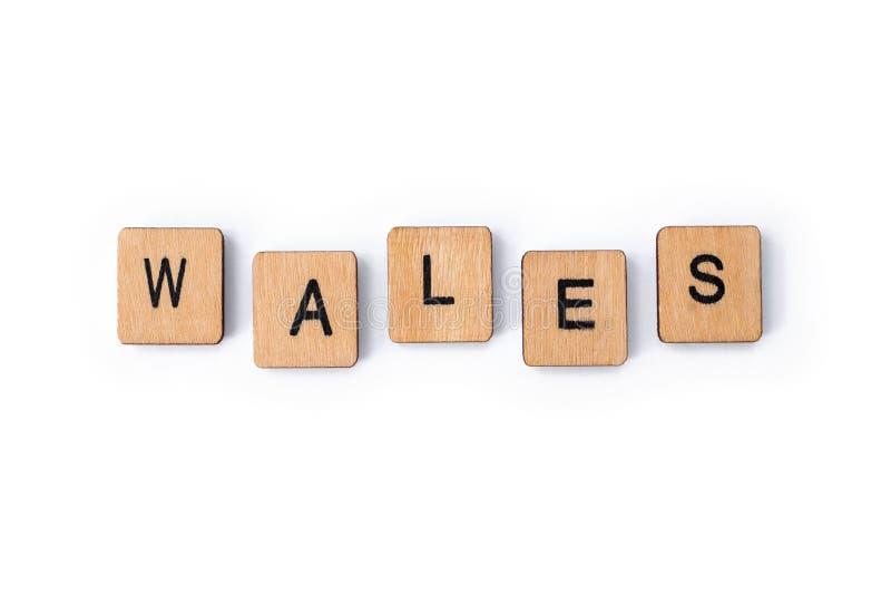 Le mot WALES photographie stock