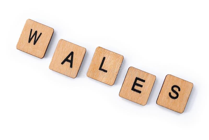 Le mot WALES photos stock