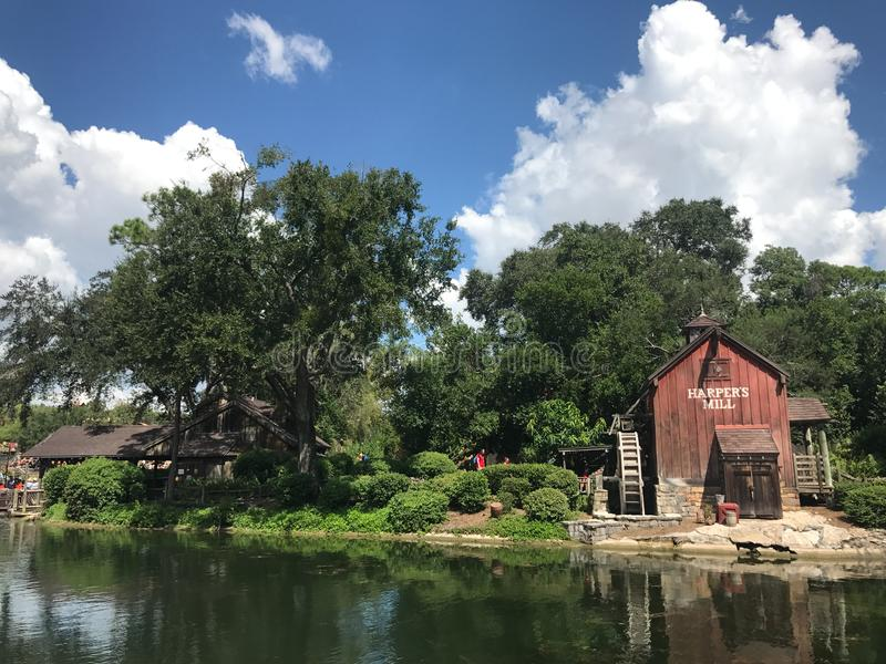 Le moulin du harpiste chez Walt Disney World photo stock