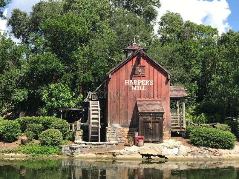 Le moulin du harpiste chez Walt Disney World photographie stock