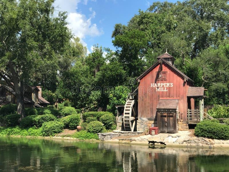 Le moulin du harpiste chez Walt Disney World images stock