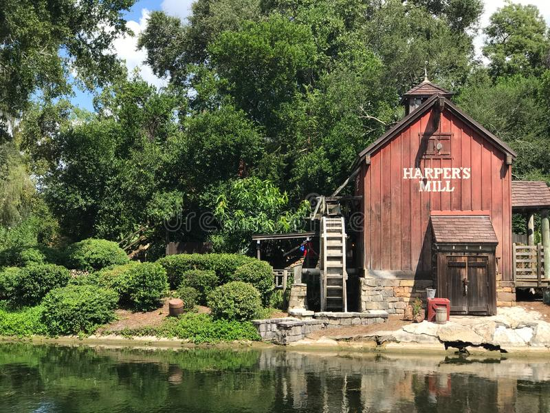 Le moulin du harpiste chez Walt Disney World photo stock