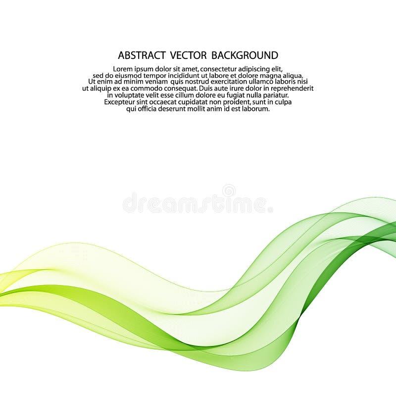 Le mouvement des lignes d'onde colorées sur fond blanc eps 10 illustration de vecteur