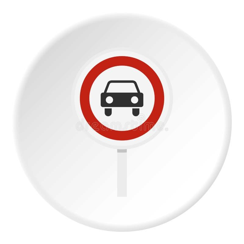 Le mouvement des véhicules à moteur est icône interdite illustration de vecteur