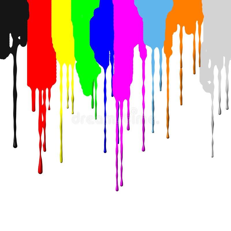Le mouvement du colorant images stock