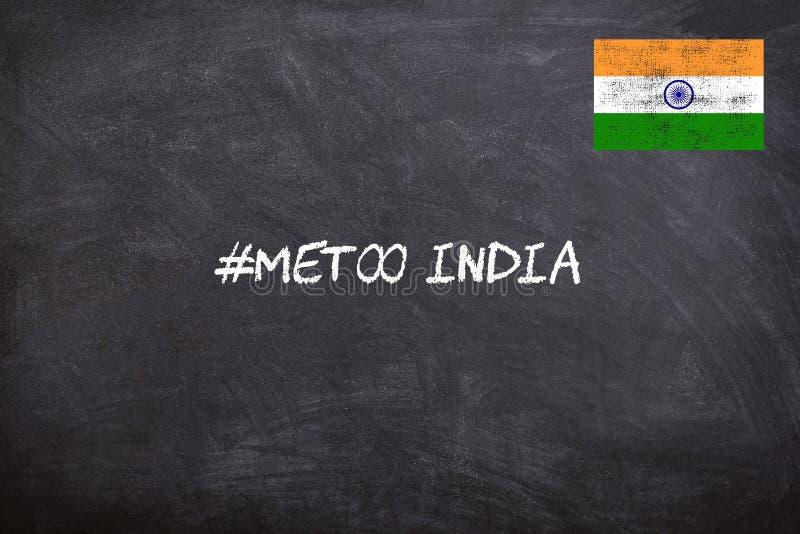 Le mouvement IMITATION dans l'Inde a commencé contre la violence sexuelle au lieu de travail images stock