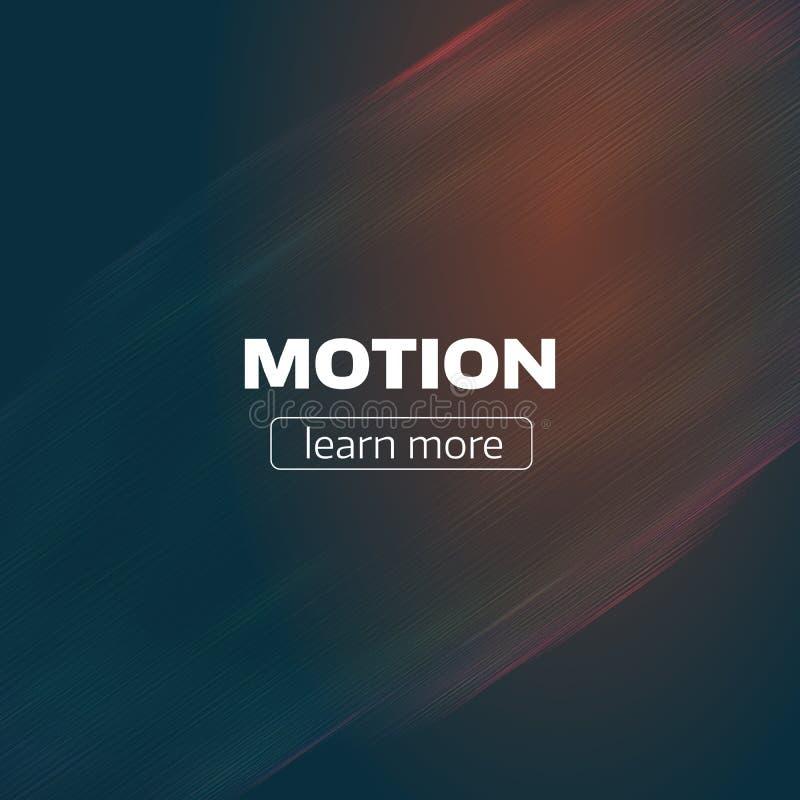 Le mouvement raye le fond Contexte minimal d'écoulement de vague Problème d'impulsion illustration de vecteur