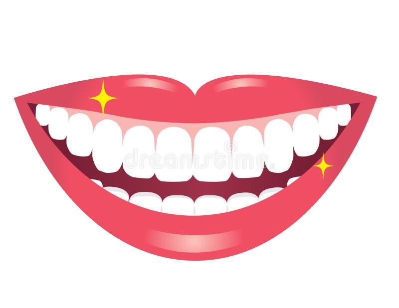 Le munnen med vita tänder vektor illustrationer